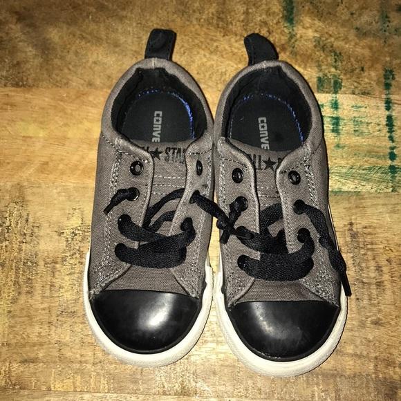 9b15ff6872fc Grey and Black Kids Converse